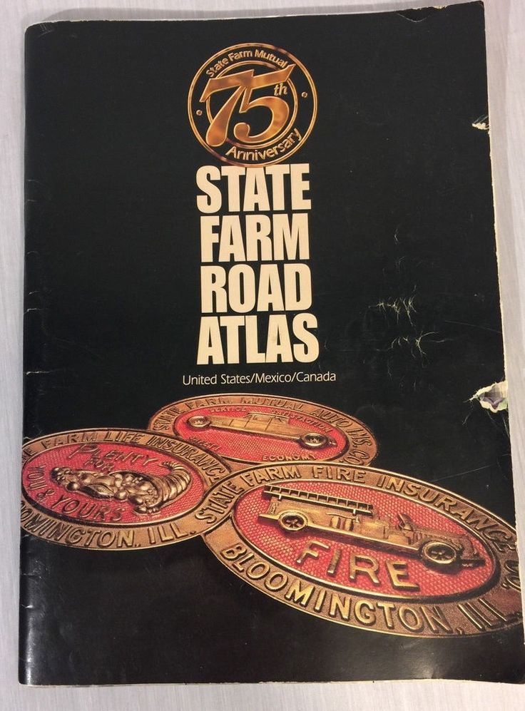 State Farm Mutual 75th Anniversary Road Atlas United State Mexico Canada Map