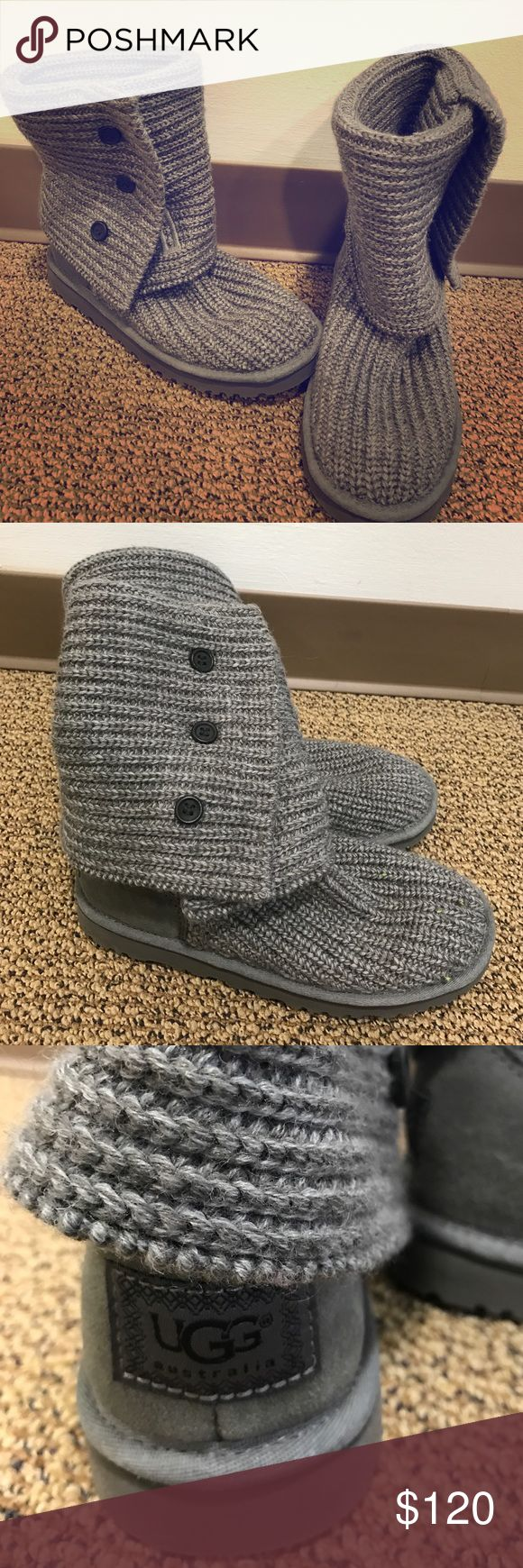Size 7 grey UGG cardy boots Like new Ugg boots. Size 7. Grey. Classic cardy style UGG Shoes Winter & Rain Boots