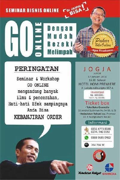 "SEMINAR BISNIS ONLINE "" GO ONLINE ""  17 Januari 2011  Hotel Home Premiere Yogyakarta."