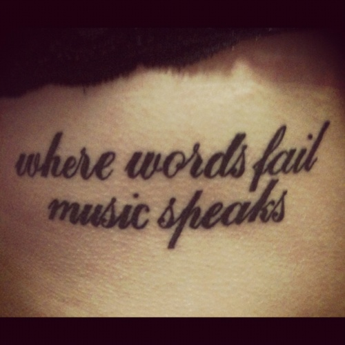 Tattoo Quotes Music: 66 Best Images About Tattoos On Pinterest