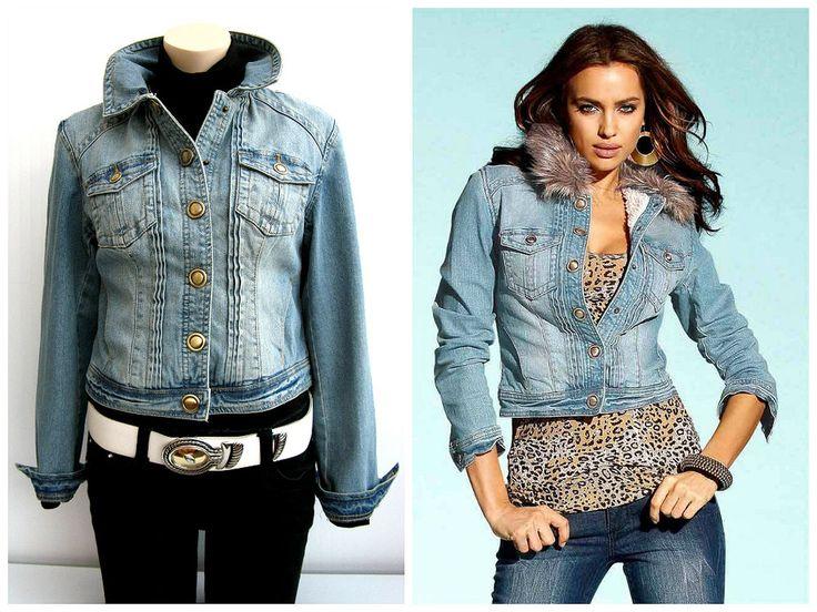 Jeans weste blau damen
