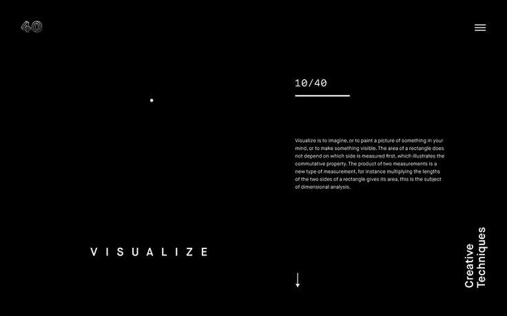 40 Creative Techniques - Website on Behance