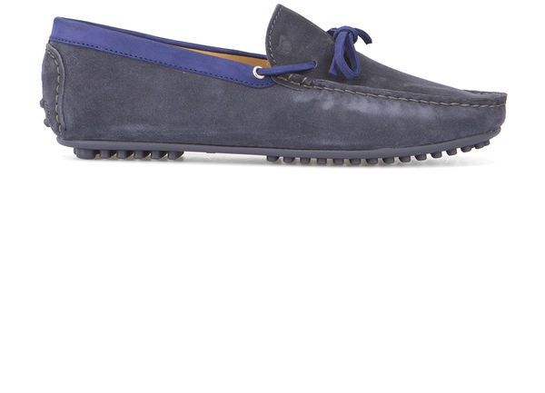BOBBIES Blue Grey Le Tombeur Suede Loafers