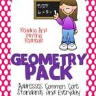 New cover and 2 additional activities added: Geometry task cards and 3-D Shape Match. This pack is a  geometry pack aligned to the 2nd grade common core and Everyday Mathematics. Great for grades 1 and 2 also. It covers 2 and 3-D sha...