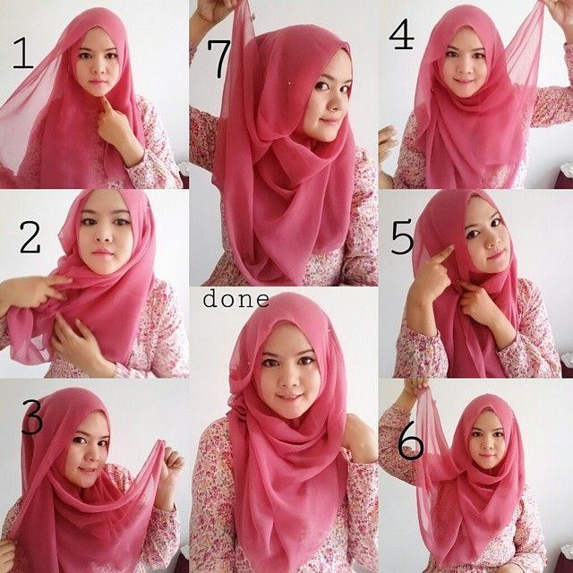 Beautiful Pink Hijab Tutorial For Spring