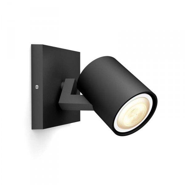 Philips Hue Runner 1-lichts Mat Zwart (zonder Dim Switch) - Lampenwereld