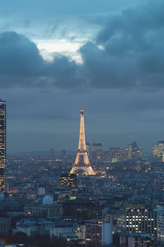 Beautiful Skyline    Paris & La Défense - by: A.G. Photographe  love lace leopard <3  chateau-de-luxe.tumblr.com