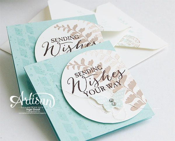 Stampin 'Cards and Memories: Stampin'Up! Artisan bloghop: 3x3 cards: Butterfly Basics stamp set: