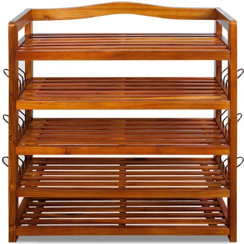 Wooden shoe storage rack tropical acacia storing furnitre unit shoe organiser DEUBA GmbH & Co. KG. http://www.amazon.co.uk/dp/B00ADLDILY/ref=cm_sw_r_pi_dp_A.S8tb1TPWJZA