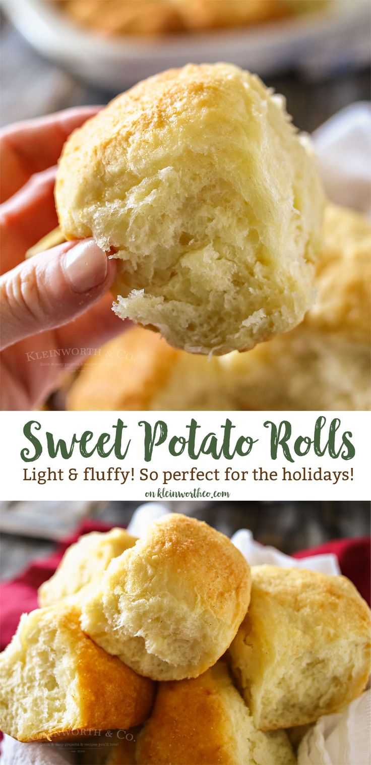 Wow your guests this holiday season & serve them these Sweet Potato Dinner Rolls that are light & fluffy. Perfect holiday dinner roll recipe
