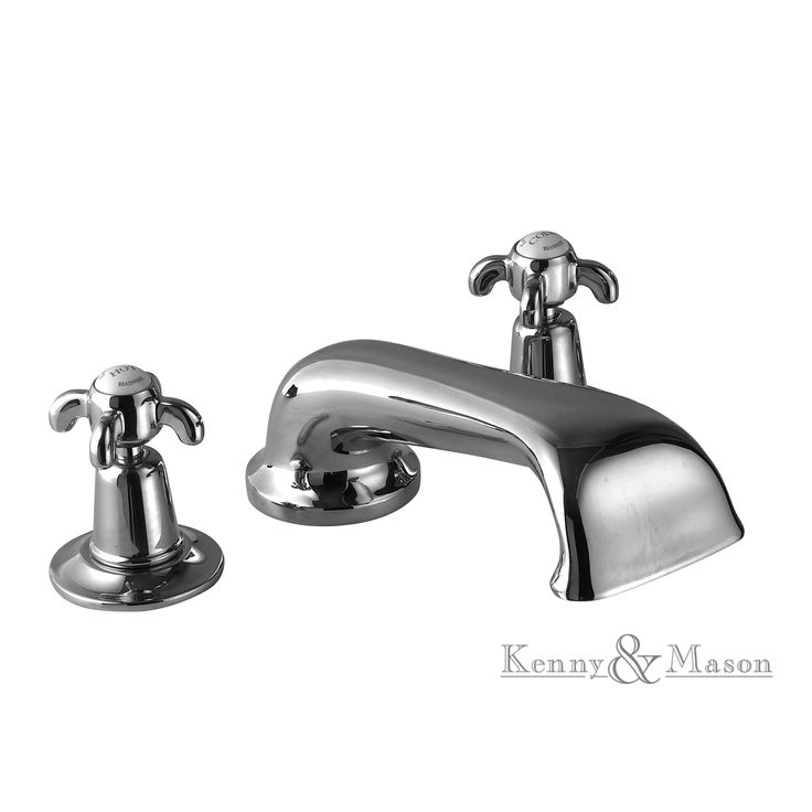 Kenny&Mason Discovery 3 hole bath filler. This product is available in chrome, nickel, brushed nickel, gold, polished brass and old brass finish. Artn°: NGT1008T