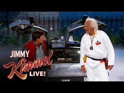 Marty McFly & Doc Brown Pay Jimmy Kimmel a Visit   Complex --- Classic!!!!!