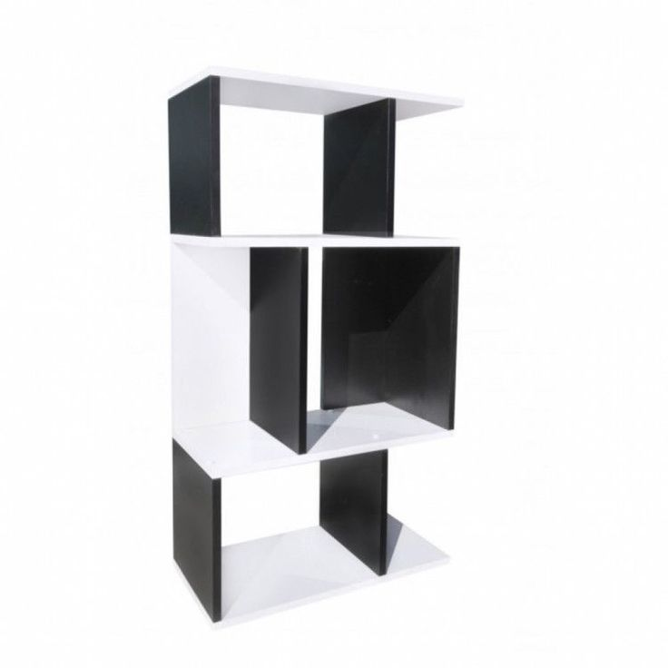 Modern Home Shelving Unit Display Storage Furniture Bookshelf Black White Wood #ModernHomeShelvingUnit #Modern