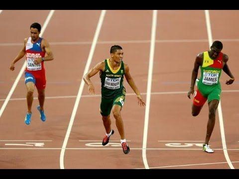 Wayde Van Niekerk took 43.48 seconds to win IAAF World Championship men'...
