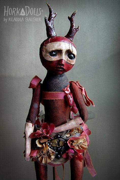 GERANIUM - a Horka Doll by Klaudia Gaugier - art doll