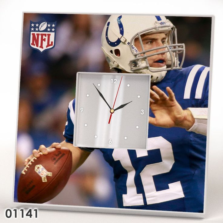 Indianapolis Colts Andrew Luck Wall Clock Mirror Frame Design NFL Sport Fan Gift #IKEA #IndianapolisColts