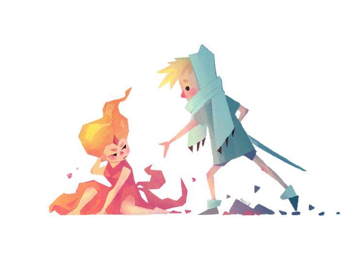 Adventure Time- Flame Princess and Finn