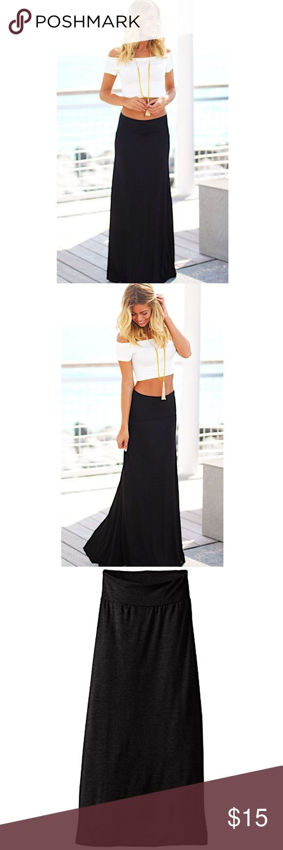 🌷Black Maxi Skirt🌷 🌷Black Maxi Skirt🌷  🌿15% off bundles 2+ items🌿                     🌸 Long 🌸 Soft material  🌸 100% cotton 🌸 Price is firm 🌸 Length- 36 in.   ✖️brand for exposure✖️  Tags: Skirt, Long, Urban Outfitters, Black, Maxi, Skater skirt, Dainty, Trendy, Cute Brandy Melville Skirts Maxi