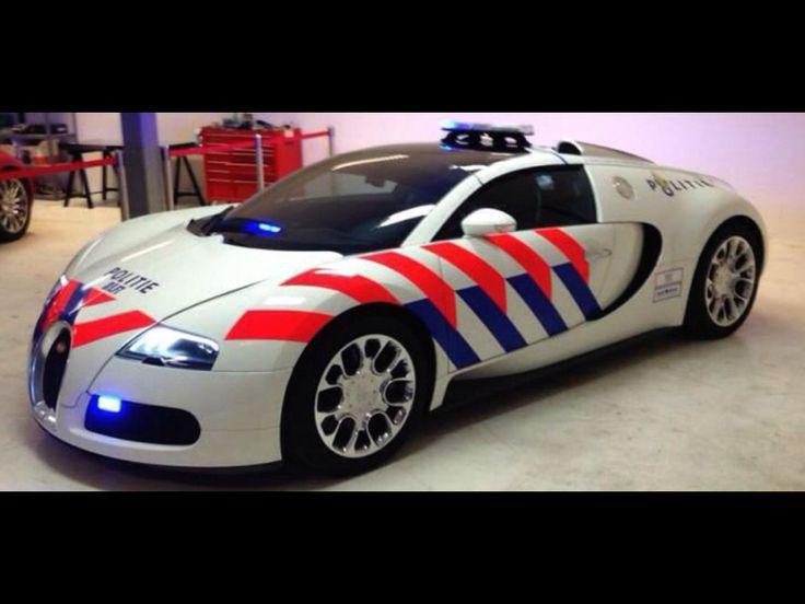 Nederlandse politie auto Bugatti van Delft