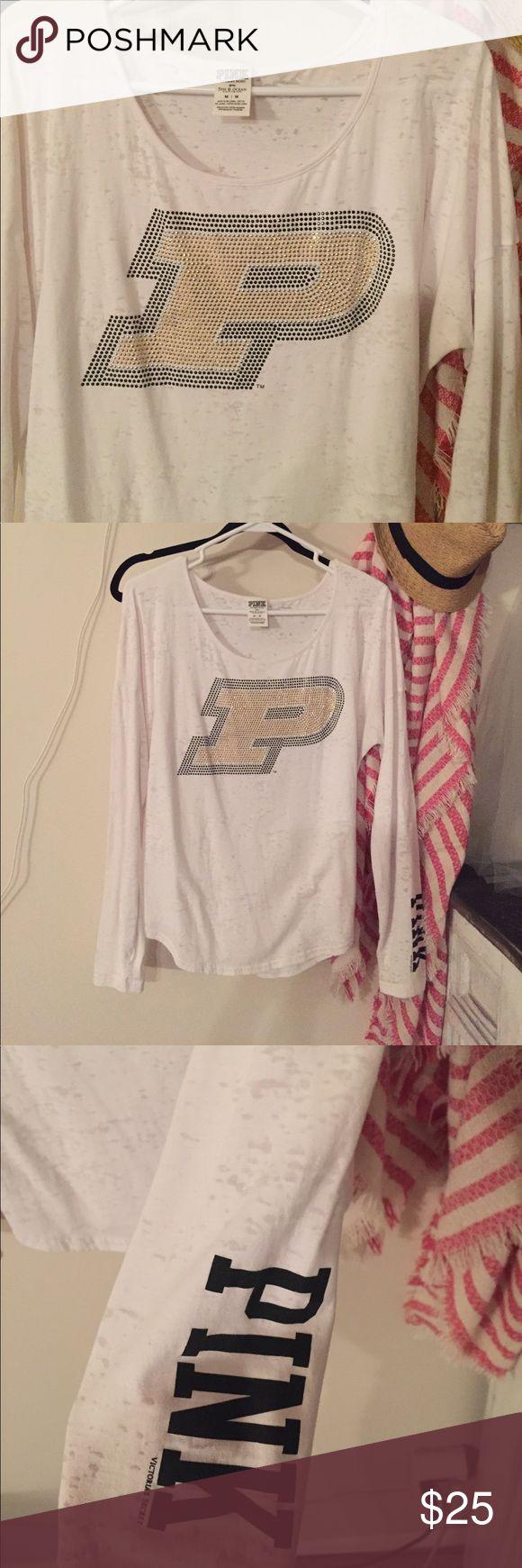 Color printing purdue - Purdue Vs Pink Burnout Tee White M