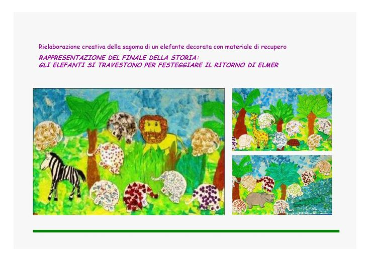 progetto Elmer l'elefante variopinto