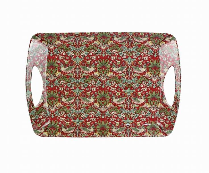 Large Melamine Serving Tray William Morris Red Strawberry Thief Tapestry Lap Tray: Amazon.co.uk: Kitchen & Home