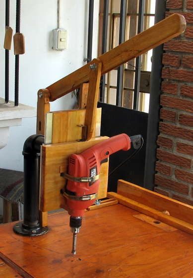 Home made drill press.