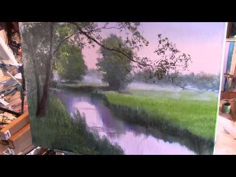 Learn to Paint Cottonwood Trees - Oil Painting 'Hammock Stand' Fast Motion by Bill Inman - YouTube