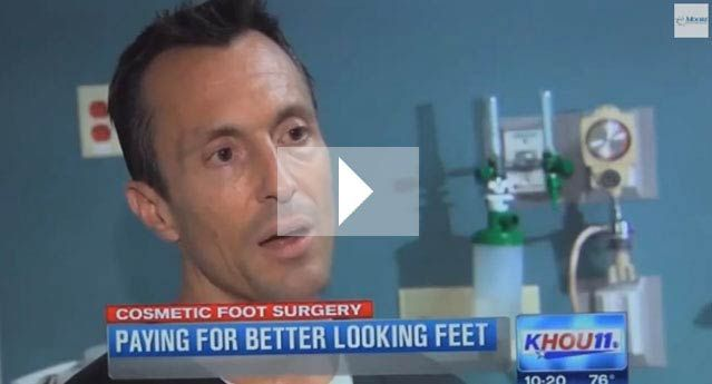 Cosmetic Foot Surgery for your feet - Channel 11 News - Dr. Robert Moore: Foot and Ankle Specialist | Houston, Texas