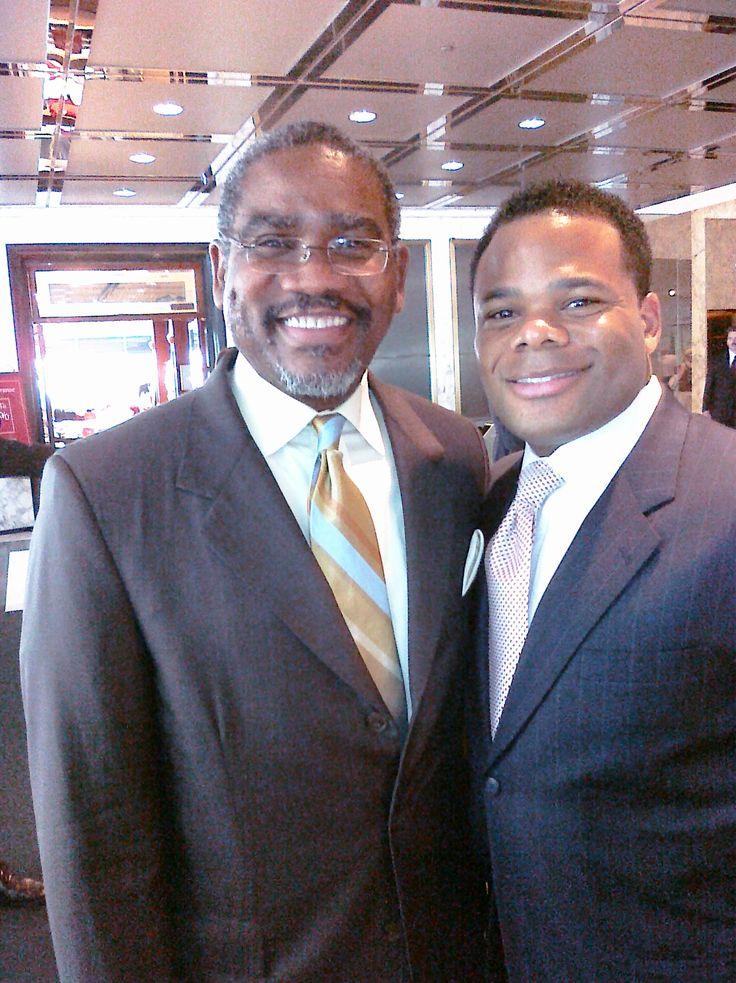 With Congressman Gregory Meeks.
