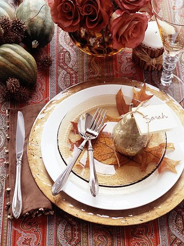 Thanksgiving Table Setting Ideas - How to Set the Table.