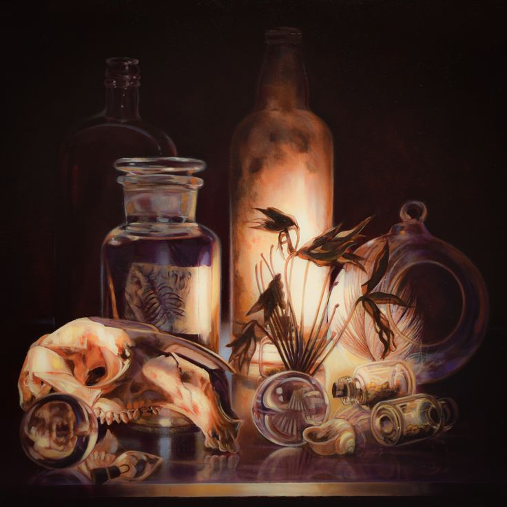 Gatya Kelly Alchemy The Apothecary 61x61cm Oil On