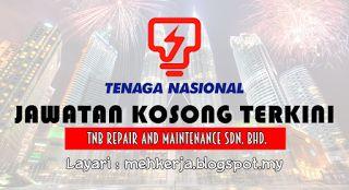 Jawatan Kosong di TNB Repair and Maintenance - 11 Aug 2016   TNB Remaco dengan ini mempelawa calon-calon Bumiputera Warganegara Malaysia yang berkelayakan dalam bidang-bidang yang berkaitan untuk mengisi kekosongan jawatan seperti di bawah:  Jawatan Kosong Terkini 2016diTNB Repair and Maintenance Sdn. Bhd.  Positions:  1.JURUTEKNIK TINGKATAN BIASA (Machining)Gaji permulaan: RM 1500 ( tidak termasuk elaun )Huraian Tugas & Tanggungjawab: Penyandang adalah bertanggungjawab terhadap…