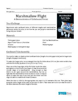 Marshmallow Flight Lab . . . fun and excellent use of scientific method . . . engineering?