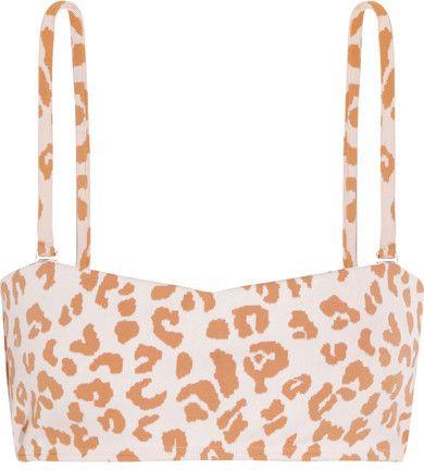 Prism - Hossegor Leopard-print Bandeau Bikini Top - Beige