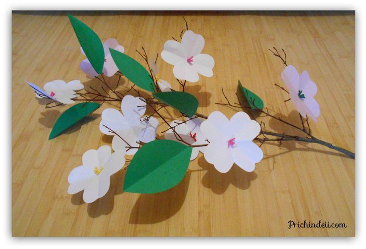 Prichindeii | Flori de sânger/ corn din hârtie | http://prichindeii.com