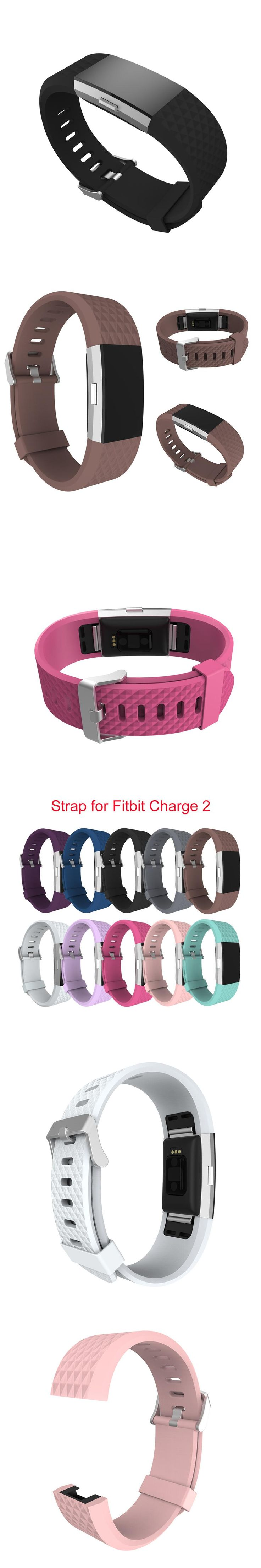 Wholesale Diamond Silicone Watchbands for fitbit charge 2 Replacement Band Strap  For Fitbit charge 2 Bracelet Smart Wristbands