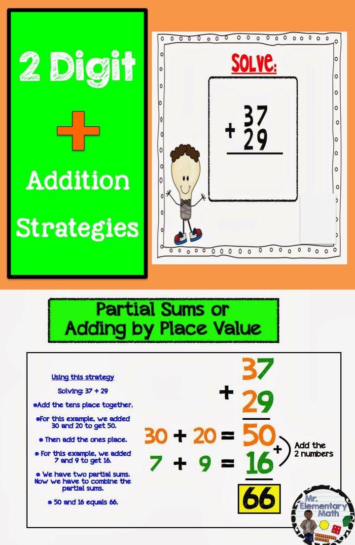 All About Addition Strategies Math Lessons First Grade Math Teaching Math Matrix addition math is fun
