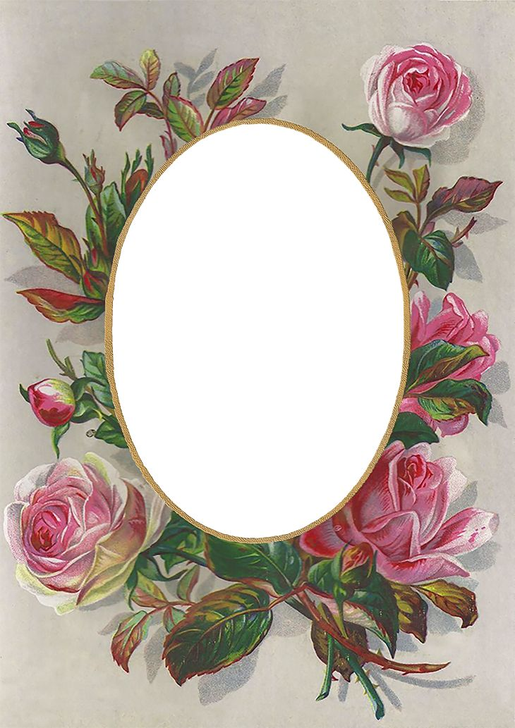 Wings of Whimsy: Victorian Rose Frame Free Printable