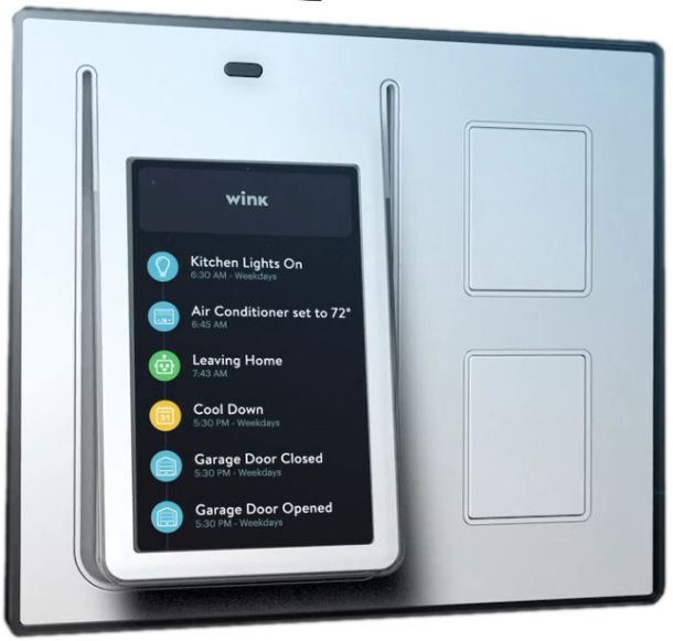 Wink announced Relay, an Android-based smart light switch and home automation hub featuring a 4.3-inch touchscreen, proximity sensors, and voice messaging.