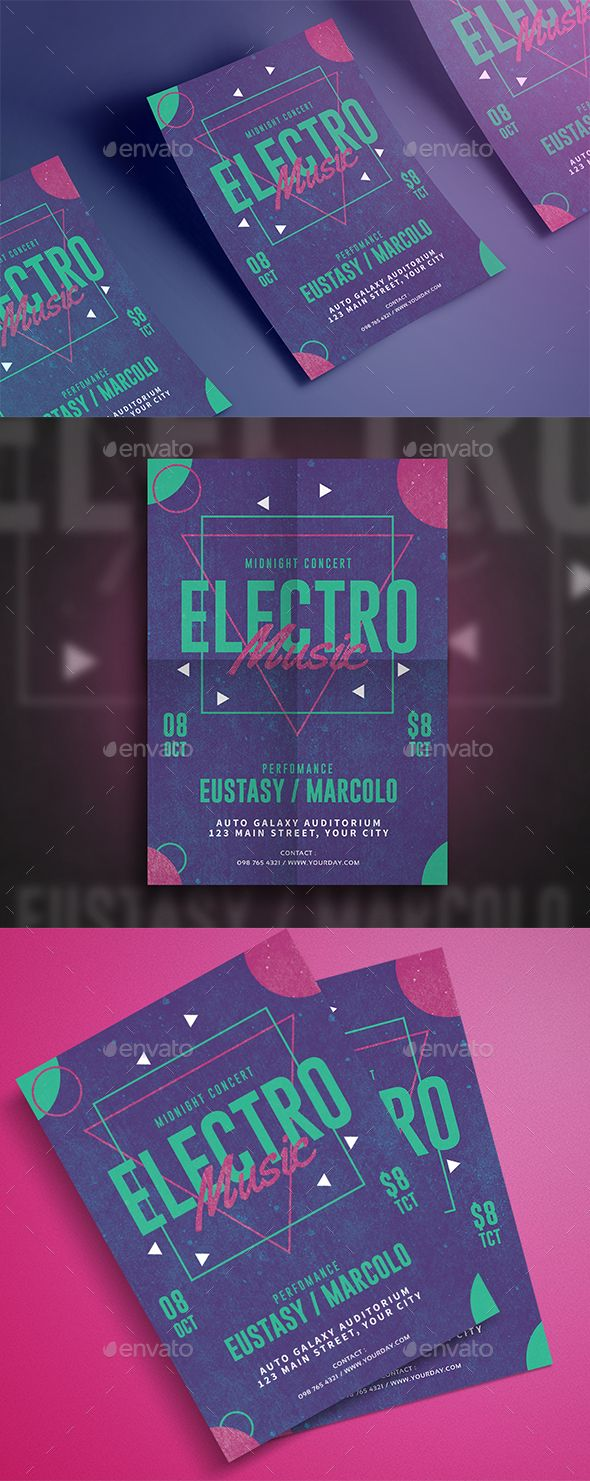 Electro Music #Flyer - Events Flyers Download here: https://graphicriver.net/item/electro-music-flyer/20017798?ref=alena994