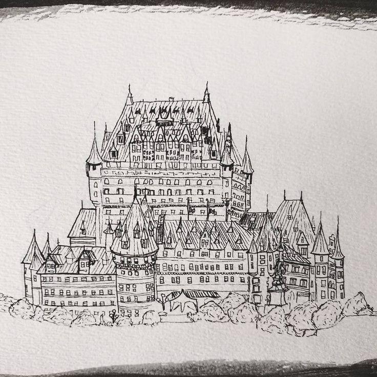 Caroline BT (@carobtartist) on Instagram: Quebec castle chateau frontenac