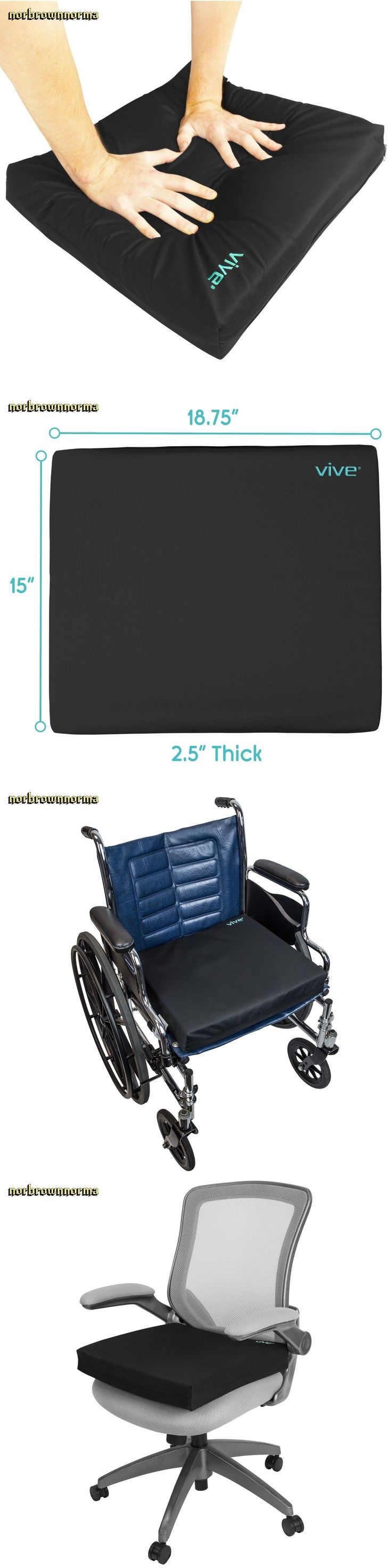 Massage Pillows and Bolsters: Wheelchair Cushion By Vive Gel Seat Pad For Coccyx Back Support Sciatica New -> BUY IT NOW ONLY: $41.45 on eBay!