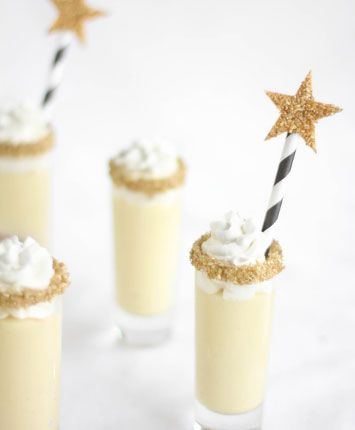 New Years Eve Party Decorations - Champagne Chantilly Shooters - Click Pic for 17 New Years Eve Party Food Ideas