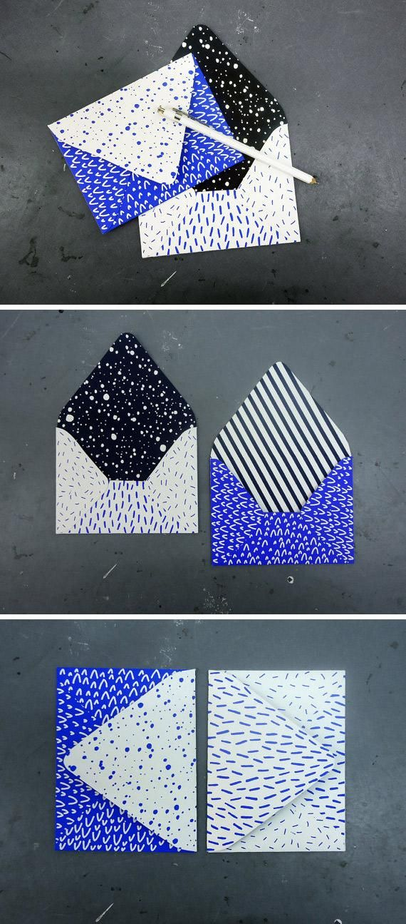 Snazz up your correspondence with some splashy screen-printed envelopes from Etsy seller Karolin Schnoor. #etsyfinds