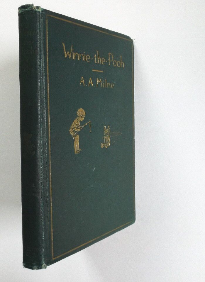 Alan Alexander Milne, Winnie the Pooh, illustrated by Ernest Howard Shepard, 1st Edition 1st Printing 1926, vintage Book, Fantasy Classic by NickoArts on Etsy https://www.etsy.com/listing/501454193/alan-alexander-milne-winnie-the-pooh