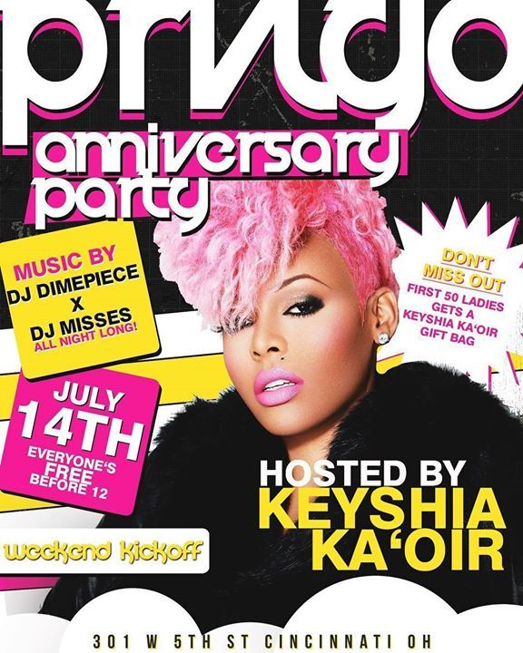Cincinnati OH!! Meet me at @prvlgdcincy tonite to celebrate their 1 year anniversary !! Gonna bless the 1st 50 Ladies w/ a #KAOIR Gift Bag! www.keyshiakoair.com #KeyshiaKaoir