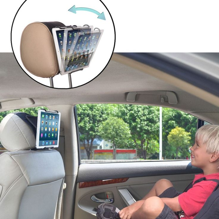 TFY Universal Car Headrest Mount Holder with Angle- Adjustable Holding Clamp for Tablets, Black //Price: $29.90//     #shop