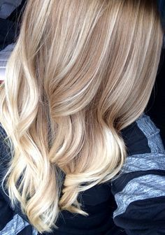 Honey brown to blonde bayalage highlights ombre