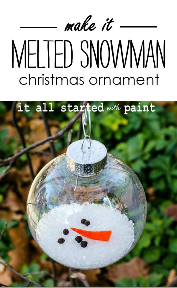 Christmas Ornament Craft Idea - Melted Snowman Christmas Ornament